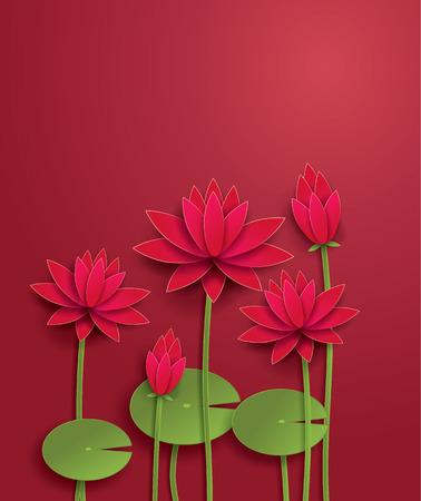 vector lotus flower 일러스트