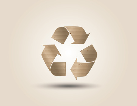 Recycle symbol or sign of conservation . Vector symbol paper cut style Vector