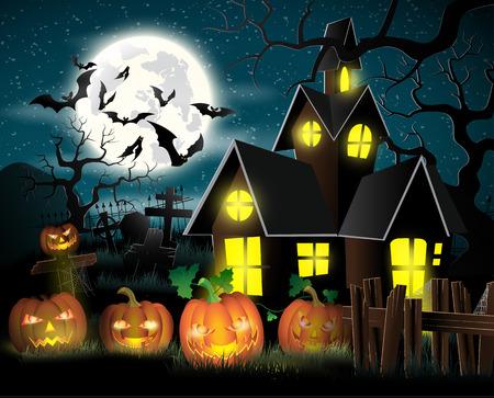 halloween poster: Happy Halloween Poster. Vector illustration.