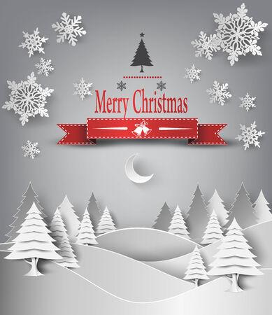 season's greeting: Christmas Greeting Card. Merry Christmas lettering, vector illustration Illustration