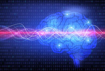 뇌와 thinking.background의 개념 스톡 콘텐츠 - 34340376