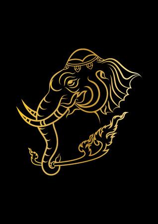 elephant head: Vector illustration of elephant head