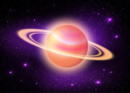illustation: illustation of planet in deep space.