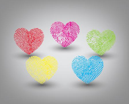 Fingerprint heart set