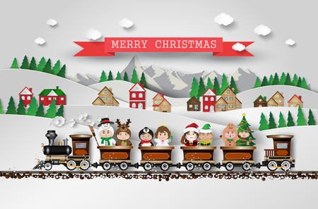 Christmas  character cute kids .Vector illustration Stock Illustratie