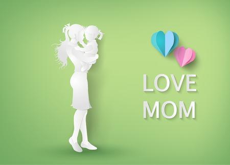 dia: Mujeres hermosas con el día en que su madre daughters.happy Vectores