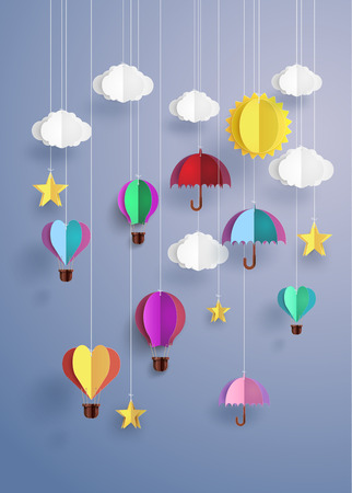 colourful origami decorate hanging