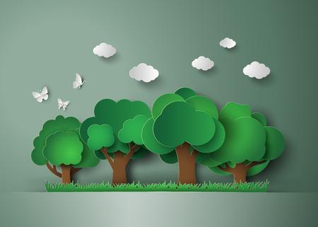Las z drzew i traw. Papier sztuki stylu