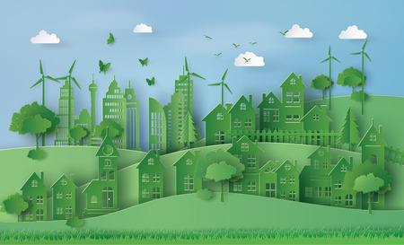 都市の田舎風景の街村で、エコのコンセプトです。