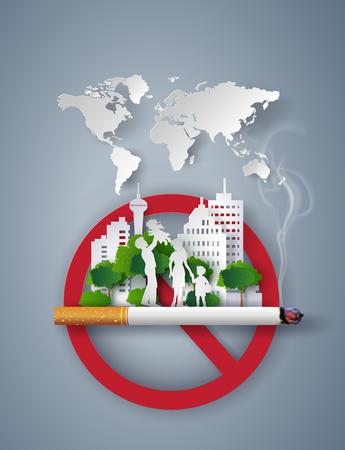 개념 금연 세계 그림의 그림 일러스트