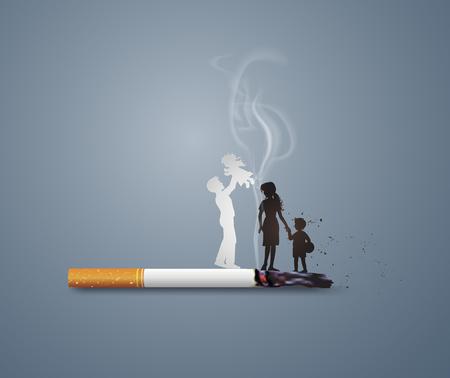 Ilustracja pojęcia nie palenia dzień świata