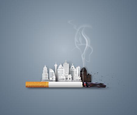 Illustration of concept no smoking day world ,31 May