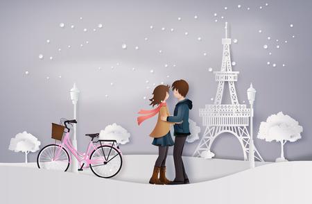 Illustration of Love and winter season Illustration