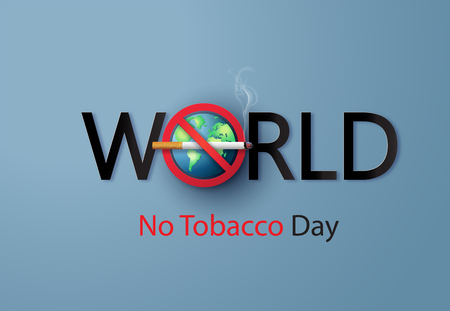 No smoking and World No Tobacco Day, Paper cut style.
