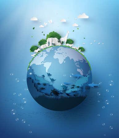 World Wildlife Day with the animal 免版税图像