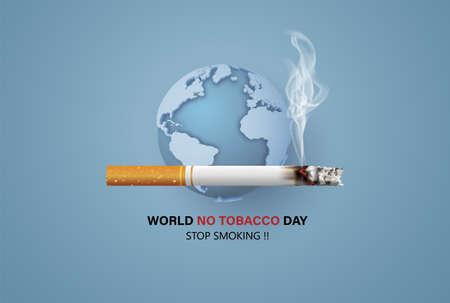 No smoking and World No Tobacco Day Imagens