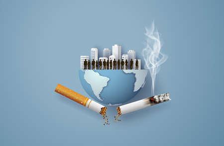 Concept of no smoking and World No Tobacco Day