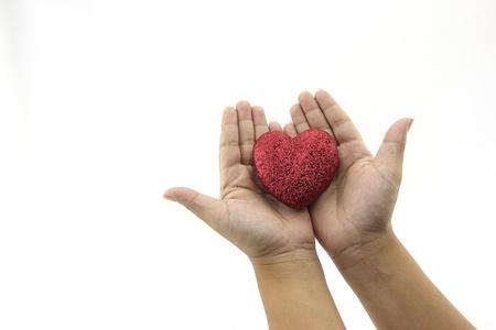 Herz in den Händen Lizenzfreie Bilder