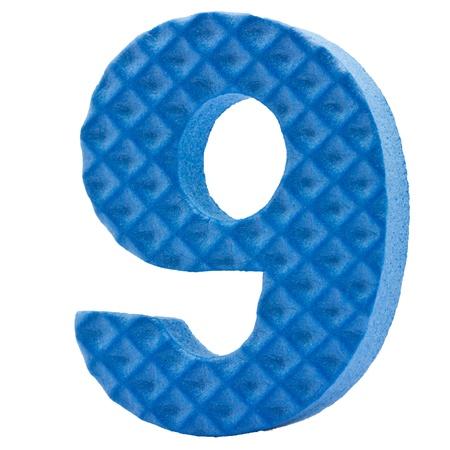 Alphabet Letter foam on white background