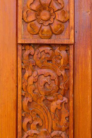 wood carvings: Wood pattern Handmade wood carvings Stock Photo