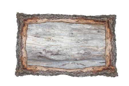 Bilderrahmen Holz Querschnitt Hintergründe Rinde und Holz Textur auf weißem Hintergrund