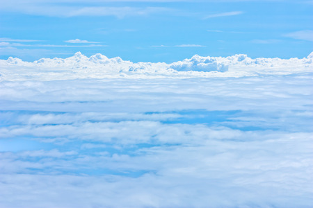 blue sky and white cloud Standard-Bild