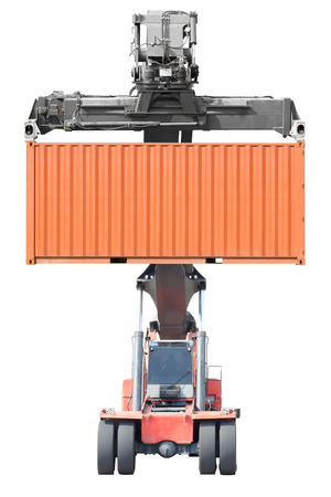 Forklifts container isolated on white background with clipping path