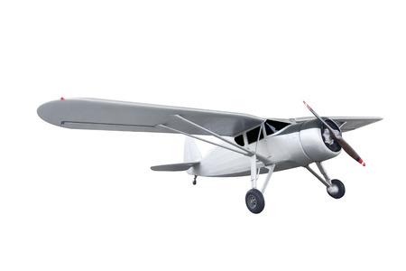 Retro-Stil Doppeldecker auf weißem Hintergrund mit Clipping-Pfad isoliert Standard-Bild - 69127419