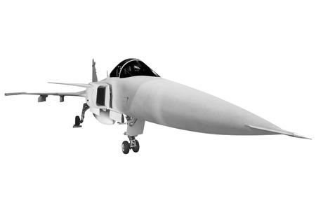 Kampfflugzeuge Militär isoliert auf weißem Hintergrund mit Clipping-Pfad