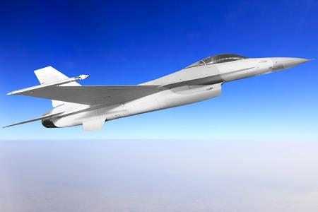 Kampfflugzeuge fliegen am Himmel