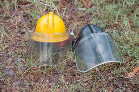 emergency vest: Safety helmet for fireman