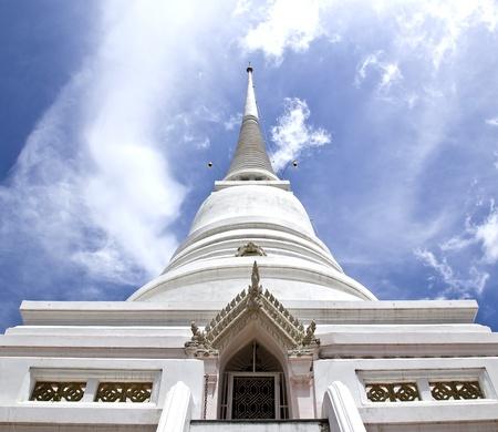 White Pagoda from Pathumwanaram temple in bangkok. photo