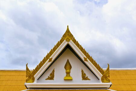Roof of Wat phra sri mahathat in bangkok, thailand. photo
