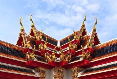 Roof of Wat Pho in bangkok, thailand. photo
