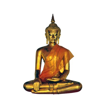Buddha statue on white background from Wat Pho in Bangkok. Stock Photo - 10202054