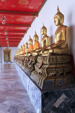 Buddha statue at Wat pho in Bangkok, Thailand.