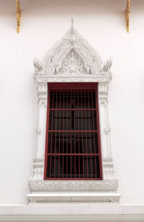 Window at Wat Mahathat Yuwaratrangsarit in Bangkok, Thailand. photo