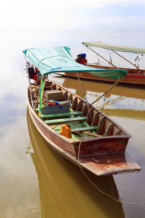 Long tail Boat  is the local boat at Don Hoi Lot, Thailand