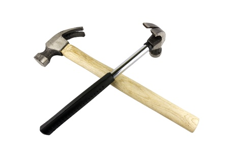 Two Hammer isolated over white background. photo