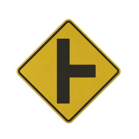uncontrolled: Side road junction uncontrolled on right traffic sign recycled paper on white background.