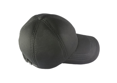 Black sports cap isolated on white background.