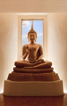 Buddha statue at Wat Tham Sua in Kanchanaburi province, thailand.