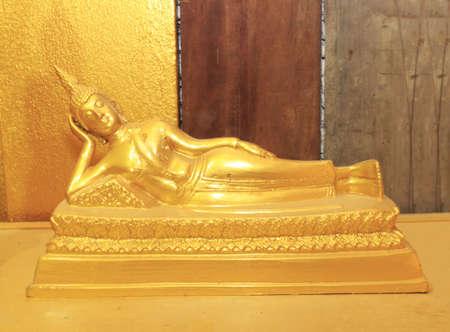 Buddha statue at Wat Paknam Joelo in Chachoengsao province at thailand. Stock Photo - 13651821