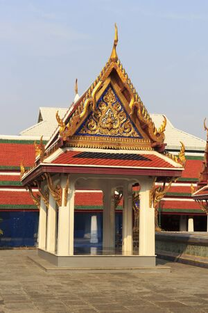 Pavilion for relaxing in the Wat Phra Kaew. Stock Photo - 13651824