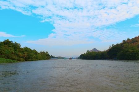 Beautiful river kwai in Kanchanaburi province, Thailand  photo