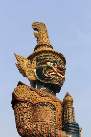 Giant sculpture in Wat Phra Kaew Temple, Thailand  photo