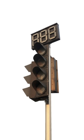 An image of traffic lights while no light  photo