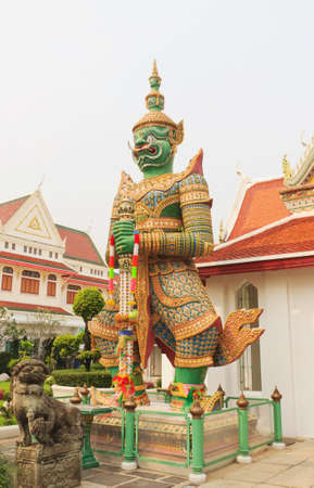 Giant sculpture in Wat Arun wararam, Thailand  photo