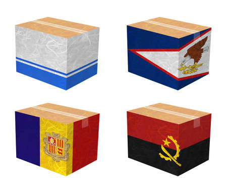 altai: Nation Flag  Box recycled paper on white background    Altai Republic , American Samoa , Andorra , Angola