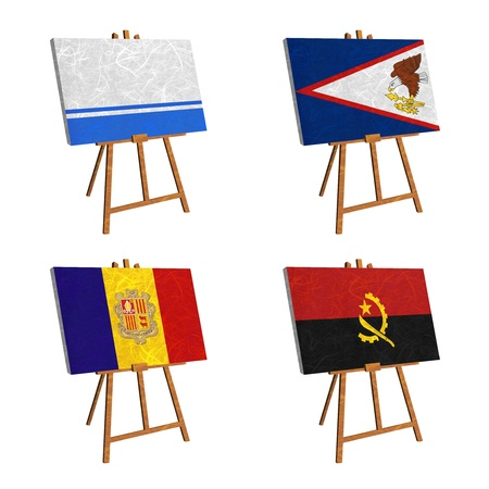 altai: Nation Flag. Easel recycled paper on white background. ( Altai Republic , American Samoa , Andorra , Angola )